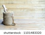 soy beans and soy milk in a... | Shutterstock . vector #1101483320