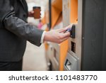 unrecognisable person paying... | Shutterstock . vector #1101483770