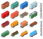 railway carriage icons set.... | Shutterstock . vector #1101484310