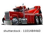 cartoon big rig tow truck... | Shutterstock .eps vector #1101484460