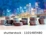 coins for business and economic ... | Shutterstock . vector #1101485480