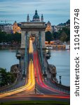 chain bridge at night  budapest ... | Shutterstock . vector #1101487748