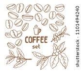 set of doodle hand drawn...   Shutterstock . vector #1101494240