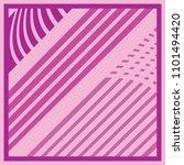 stripes shape on pink | Shutterstock .eps vector #1101494420