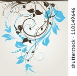 abstract floral background for... | Shutterstock .eps vector #110149646