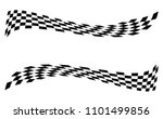 checkered racing flag isolated... | Shutterstock .eps vector #1101499856