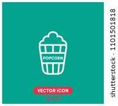popcorn vector icon...