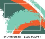 horizontal border with paint... | Shutterstock .eps vector #1101506954