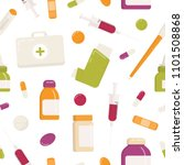 seamless pattern with first aid ... | Shutterstock .eps vector #1101508868