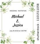 wedding invitation. flowers.... | Shutterstock .eps vector #1101511058