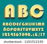 high quality vintage alphabet... | Shutterstock .eps vector #1101512150