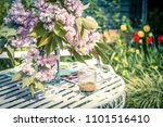 beautiful and romantic scene in ... | Shutterstock . vector #1101516410