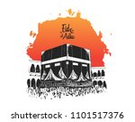 eid al adha free hand drawing... | Shutterstock .eps vector #1101517376