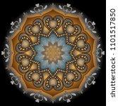 a vintage mandala. floral... | Shutterstock .eps vector #1101517850