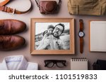 fathers day greeting card... | Shutterstock . vector #1101519833