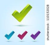 set of check mark symbol... | Shutterstock .eps vector #110152028
