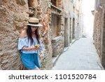 girlfriend in old european...   Shutterstock . vector #1101520784