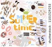 decorative summer abstract... | Shutterstock .eps vector #1101529253