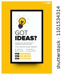 got ideas event poster with... | Shutterstock .eps vector #1101534314