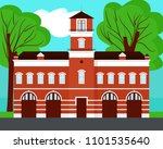 fire station vector ion... | Shutterstock .eps vector #1101535640
