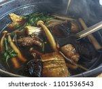 buk kut teh  a chinese pork... | Shutterstock . vector #1101536543