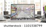online shopping. shopping cart...   Shutterstock . vector #1101538799