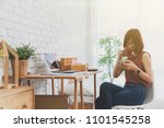 woman small business owner ...   Shutterstock . vector #1101545258