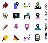 solid vector icon set  ... | Shutterstock .eps vector #1101549956