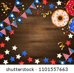 independence day wooden... | Shutterstock .eps vector #1101557663