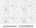 vector smart home pattern.... | Shutterstock .eps vector #1101558599