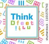 think different text written... | Shutterstock . vector #1101570743
