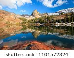 spring reflection at lake... | Shutterstock . vector #1101572324