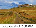 dirt road in the golden gate... | Shutterstock . vector #1101573200