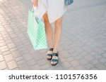 after shopping day concept.... | Shutterstock . vector #1101576356