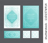 luxury wedding invitation or... | Shutterstock .eps vector #1101576914