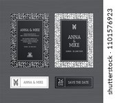 luxury wedding invitation or... | Shutterstock .eps vector #1101576923