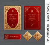 luxury wedding invitation or... | Shutterstock .eps vector #1101576929