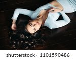 above view of beautiful  sexy... | Shutterstock . vector #1101590486