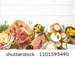 antipasto delicatessen   sliced ... | Shutterstock . vector #1101595490