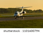 front view of a private jet... | Shutterstock . vector #1101600794