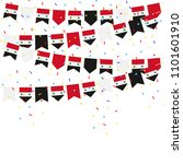 syria celebration bunting flags ... | Shutterstock .eps vector #1101601910