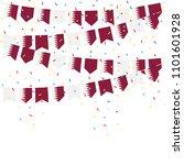 qatar celebration bunting flags ... | Shutterstock .eps vector #1101601928