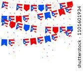 puerto rico celebration bunting ... | Shutterstock .eps vector #1101601934