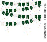 pakistan bunting flags with... | Shutterstock .eps vector #1101601943