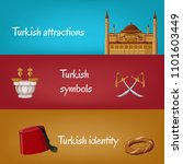 turkish touristic banners with... | Shutterstock .eps vector #1101603449
