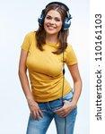 music woman portrait. girl...   Shutterstock . vector #110161103