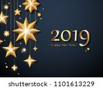 2019 happy new year background... | Shutterstock .eps vector #1101613229