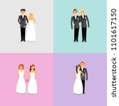 couples with different sexual... | Shutterstock .eps vector #1101617150