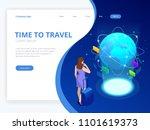isometric web banner... | Shutterstock .eps vector #1101619373