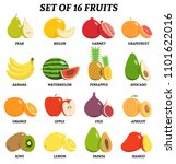vector illustration of set of... | Shutterstock .eps vector #1101622016